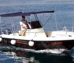 Rent a boat i scooter Contessa tours EN 21 open gliser